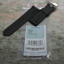 Panerai strap cinturino Rubber Black MX00312X with deplo