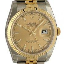 Rolex Datejust Stahl/Gelbgold Jubilé Armband 36mm Ref. 116233