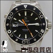 태그호이어 (TAG Heuer) 【中古】TAG HEUER アクアレーサー メンズ ブラック 腕時計 クオーツ...