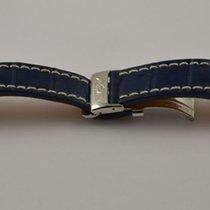 Breitling Kroko Leder Armband Band 20mm 20-18 Mit Faltschliess...