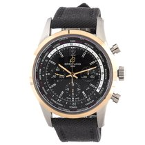 Breitling Transocean Unitime Chronograph 46mm Pink Gold Rubber...