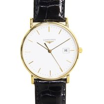 Longines La Grande 18 K Yellow Gold White Quartz L4.743.6.12.0