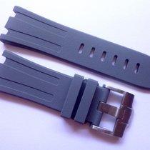 Compatible Grey Rubber strap for AP - 28mm Audemars Piguet Oak...