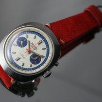 ZentRa SAVOY MEN'S vintage OVERSIZED CHRONOGRAPH watch STEEL