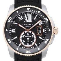 Cartier Calibre de Cartier Diver Stahl / 18 Kt. Rotgold W7100055