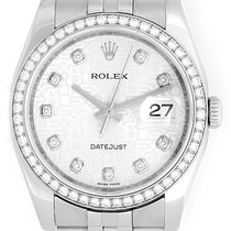 Rolex Datejust Diamond Bezel and Dial Men's Steel Watch...