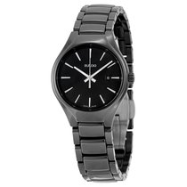 Rado Ladies  True Quartz Black High-tech Ceramic Watch