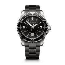 Victorinox Swiss Army Maverick large black dial, black steel...