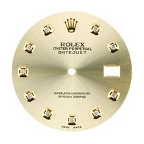 Rolex DateJust 36mm Gold/Diamond Hour Markers Custom Dial
