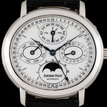 Audemars Piguet 18k W/G Millenary Perpetual Calendar Moonphase...