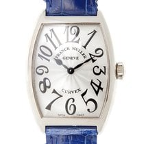 Franck Muller New  Cintree Curvex 18k White Gold White Quartz...