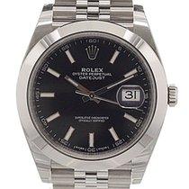 Rolex Datejust 41, Ref. 126300 - schwarz Index ZB/Jubileeband
