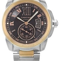 Cartier Calibre 18k Pink Gold Brown Dial Automatic Men Watch...