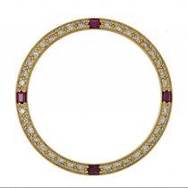 Rolex Zubehör - Lünette Gelbgold Diamant Rubin 34mm