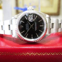 Rolex Oyster Perpetual Datejust Black Dial Fluted Bezel 26mm...