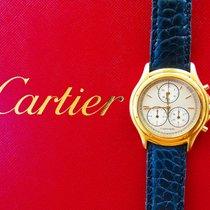 Cartier Cougar Chronoflex Yellow Gold 18K Luxury Mens Chronograph