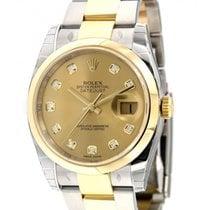 Rolex Datejust 36 116203 Steel, Yellow Gold, Diamonds, 36mm
