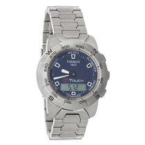Tissot T-Touch Mens Titanium Blue Dial Watch T33.7.588.41