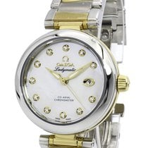 Omega Ladymatic Co-axial White MOP Dial Diamonds Women Watch...