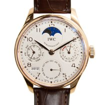 IWC Portuguese 18k Rose Gold Silvery White Automatic IW502306
