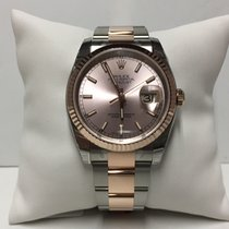 Rolex Datejust 116231 18k rose gold and steel pink dial for...