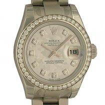 Rolex Datejust Lady Stahl Weißgold Diamond Perlmutt Automatik...