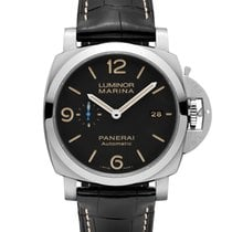 Panerai PAM01312 PAM 1312 - Luminor 1950 3 Days GMT in Steel -...