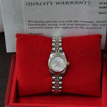 Rolex Ladies Oyster Perpetual 67193 Diamond Dial 18k Yellow...