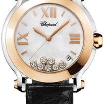 Chopard Happy Sport Round Quartz 36mm 278492-9004 black