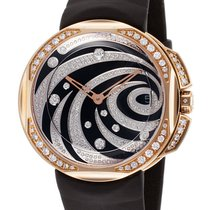 Clerc Odyssey Lady 18 k Rose Gold and Diamonds Watch OL-Q-5B4