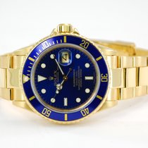 Rolex Submariner Date 18kt Yellow Gold Blue Dial/Bezel - 16808