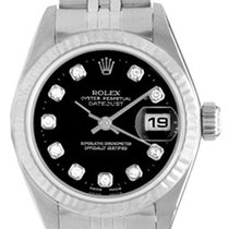 Rolex Ladies Rolex Datejust Steel Watch with White Gold Bezel...