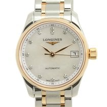 Longines Master 18k Rose Gold And Steel White Automatic...
