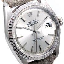 Rolex 36mm Datejust Silver Dial Horween Strap 1601 Non-Quickset