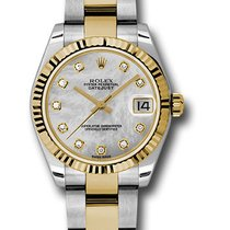 Rolex Datejust, Ref. 178273 - silber Diamant ZB/Oysterband