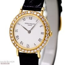 Patek Philippe Calatrava Lady Ref-4820 18k Yellow Gold Papers...