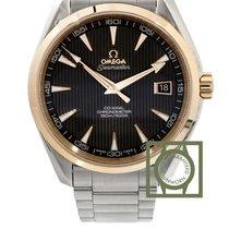 Omega Seamaster Aqua Terra 41.5 Pink Gold Steel Grey Dial NEW