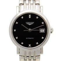 Longines Elegant Stainless Steel Black Automatic L4.309.4.57.6