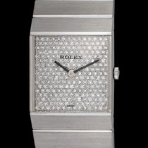Rolex King Midas 3584 In White Gold & Diamond Pave Dial