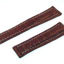Breitling Tradema Band 22mm Croco Rot Braun Brown Strap Für...