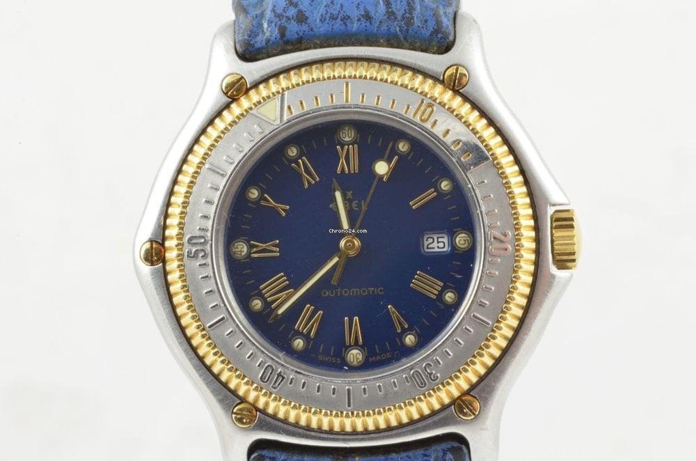Uhren Kölbel ebel discovery automatik herren uhr 193913 rar blau schöner for s