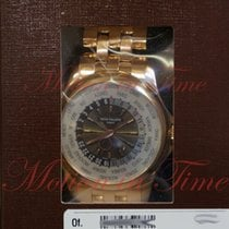 Patek Philippe World Time, Silver/Brown Dial - Rose Gold on...