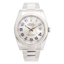 Rolex Datejust Stainless Steel Silver Automatic 116200SVDECARBL_O