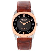 Rolex Cellini Danaos 18k White And Rose Gold Black Dial Watch...