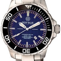 Deep Blue Daynight Recon Tritium T-100 Auto Watch Swiss Eta...