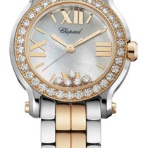 Chopard Happy Sport 30mm Gold Diamonds Lady