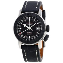 Glycine Airman 18 Black Dial Automatic Men's World Time Watch