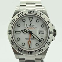 Rolex Explorer II W/card Scrambled 216570 White Steel 42mm...