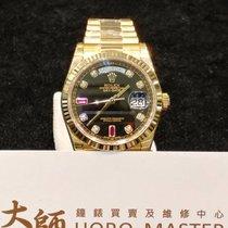 Rolex Horomaster-118238 DayDate President Black Diamond Ruby