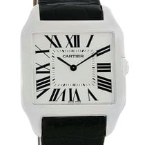 Cartier Santos Dumont Mens 18k White Gold Manual Watch W2007051